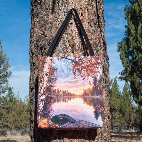 Fall Sunset on Mirror Pond Tote - Simply Bend Souvenirs