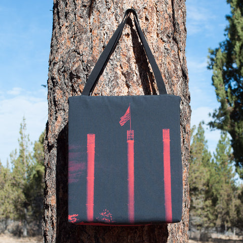 Old Mill at Night Tote - Simply Bend Souvenirs