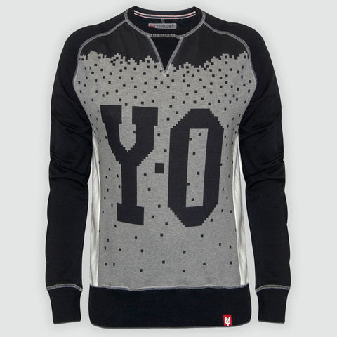 YO Pixelator YO Sweatshirt Jumper Sweater Top with Long Sleeves