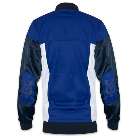 YO Slayer Zip-Up Hoodie YO Sweat Jacket. Royal Blue/Navy