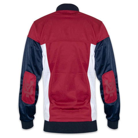 YO Slayer Zip-Up Hoodie YO Sweat Jacket. Red/Navy