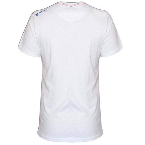 YO Carrier Short Sleeve Printed YO T-Shirt with Crew Neck. White