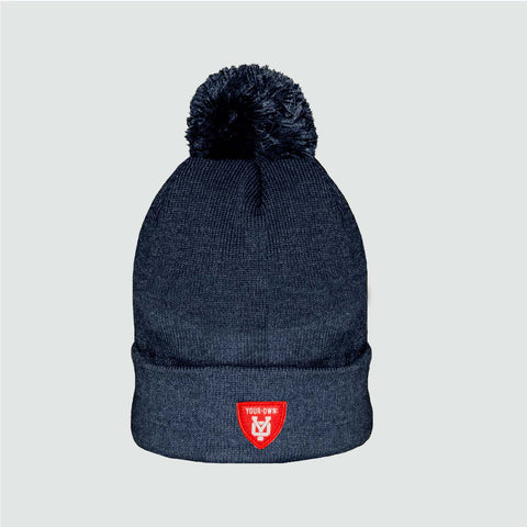YO 'BOWERS' Bobble Beanie Navy