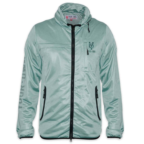 YO Spectrum Lightweight Zip-Up YO Coat Jacket. Grey