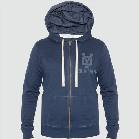 YO 'VINCENTE'  Zip-Up Hoodie YO Sweat Jacket Navy