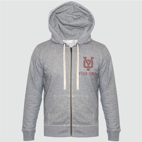 YO 'VINCENTE'  Zip-Up Hoodie YO Sweat Jacket Grey Marl