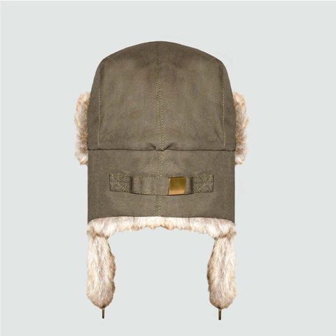 YO 'SHERPA' Forest Green Trapper Hat