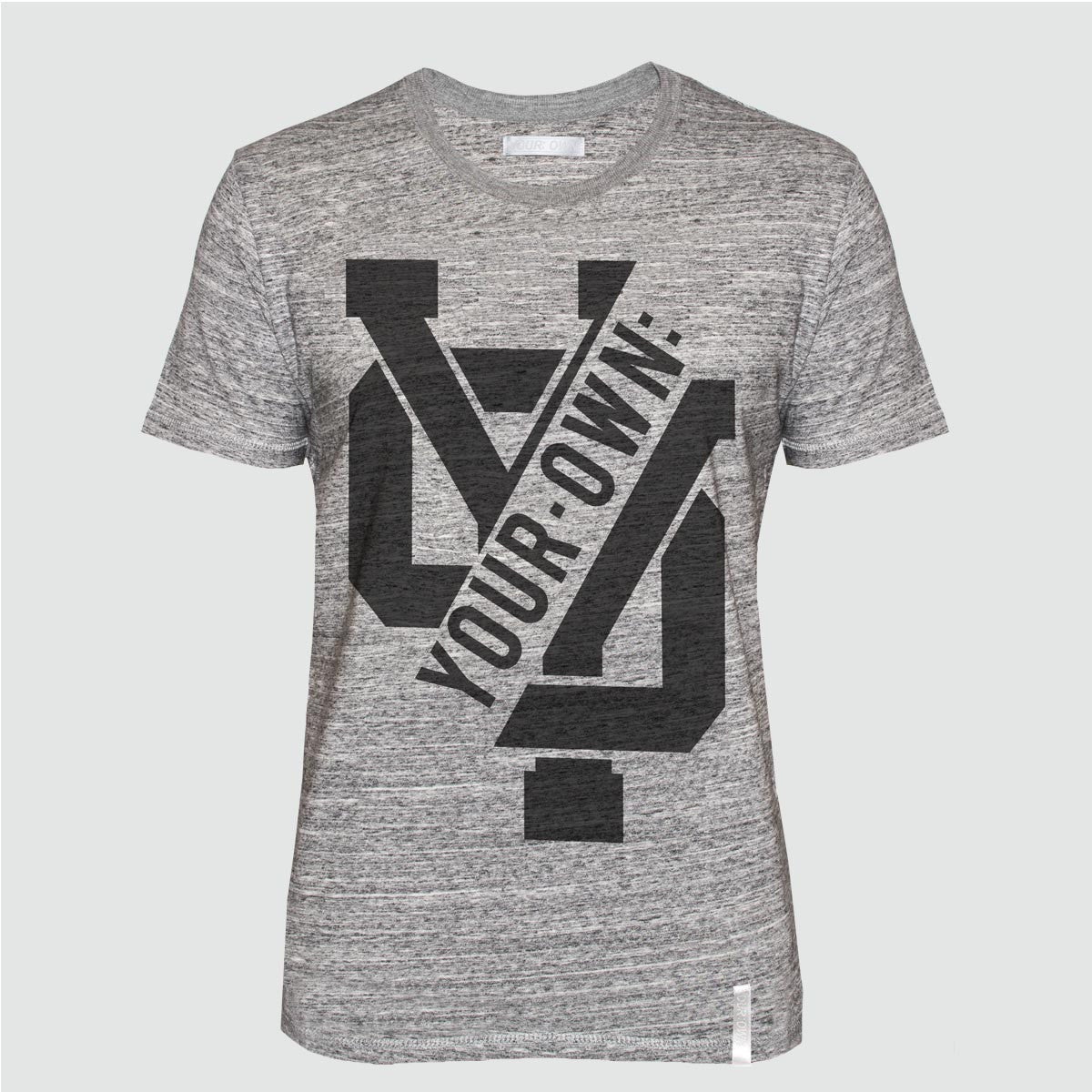 YO 'CAN FORN' T SHIRT GREY MARL