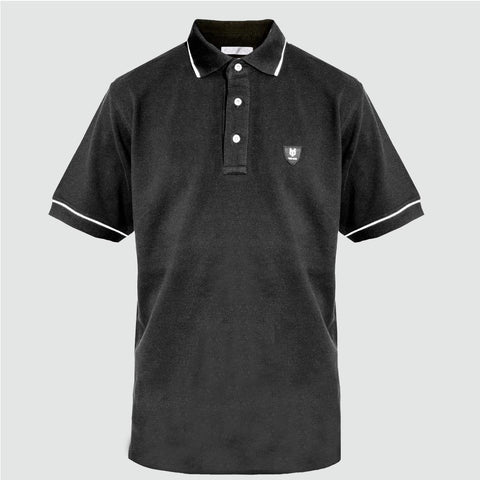 YO 'MIRAMAR' Polo Shirt BLACK