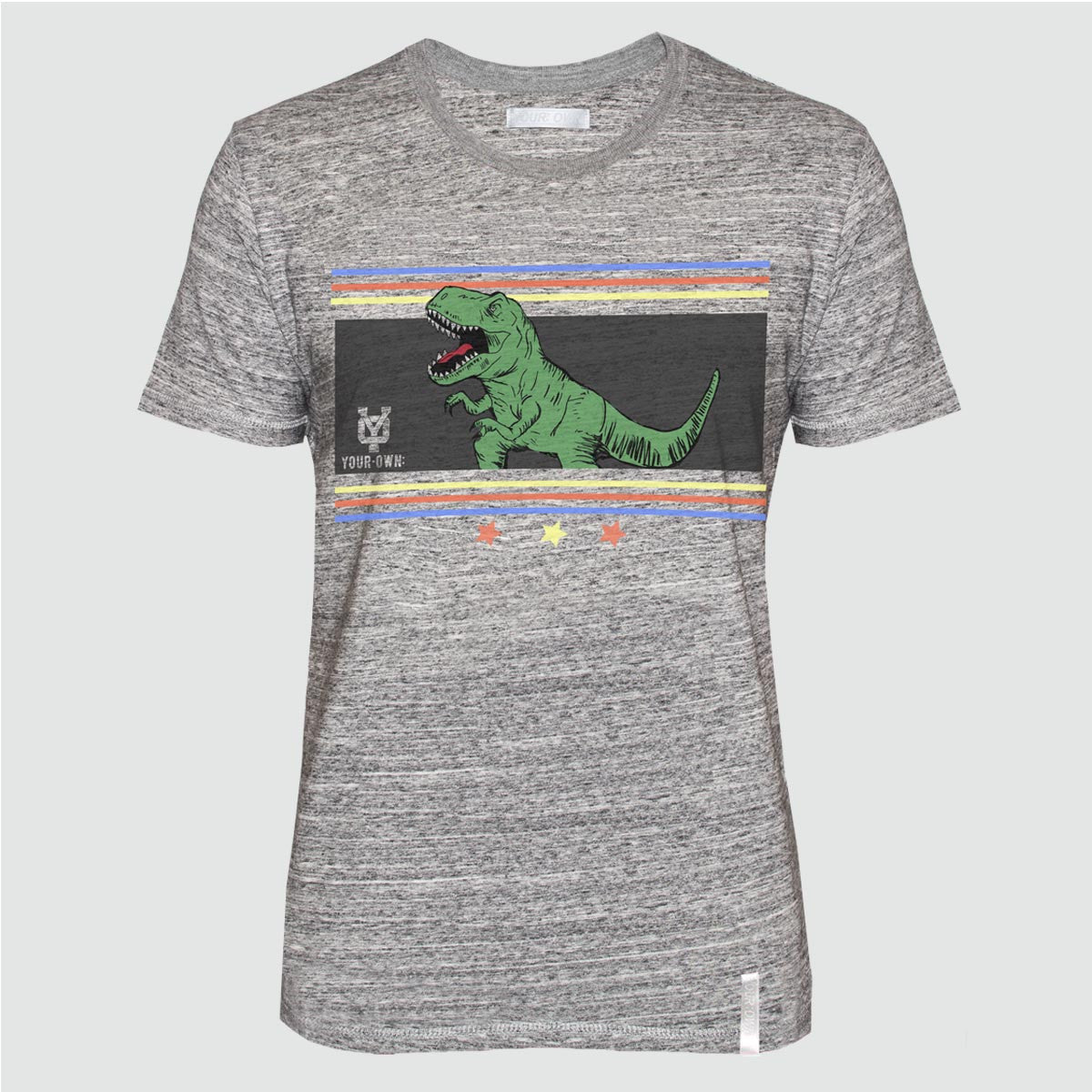 YO 'OLIVERES' T SHIRT GREY MARL