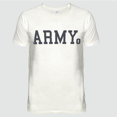 YO 'ARMY' T SHIRT CREAM