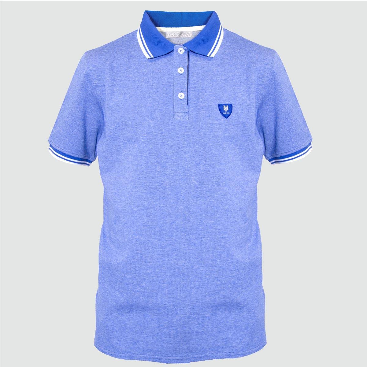 YO 'RIO' Polo Shirt Blue Marl