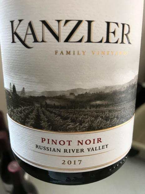 Kanzler Russian River Valley Pinot Noir 2017 750ml