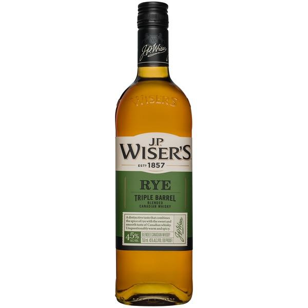 J.P. Wiser's Rye Triple Barrel Blended Canadian Whisky 750ml
