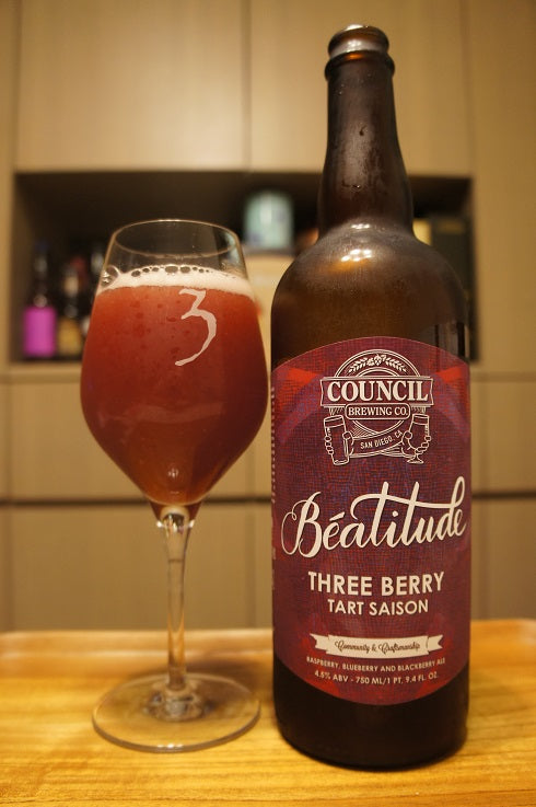 Council Beatitude Tart Saison Three Berry 750ml