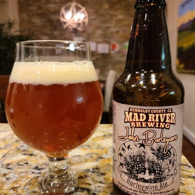 Mad River Brewing John Barleycorn Barleywine Single 12oz bottle