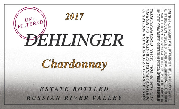 Dehlinger Estate Chardonnay 2018 750ml