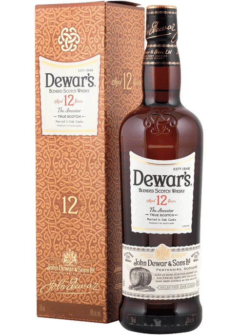 Dewar's 12 Years Blended Scotch Whisky 750ml