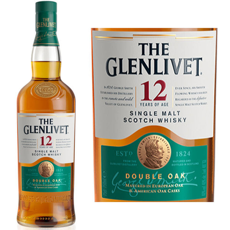 Glenlivet 12 Years Single Malt Scotch Whiskey 750ml