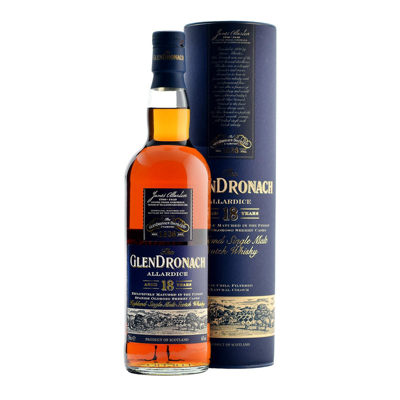 The Glendronach 18 Years Single Malt Scotch Whisky 750ml