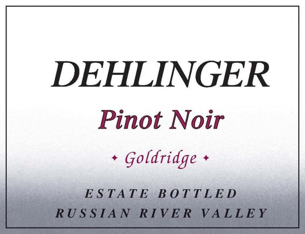 Dehlinger Goldridge Pinot Noir 2017 750ml