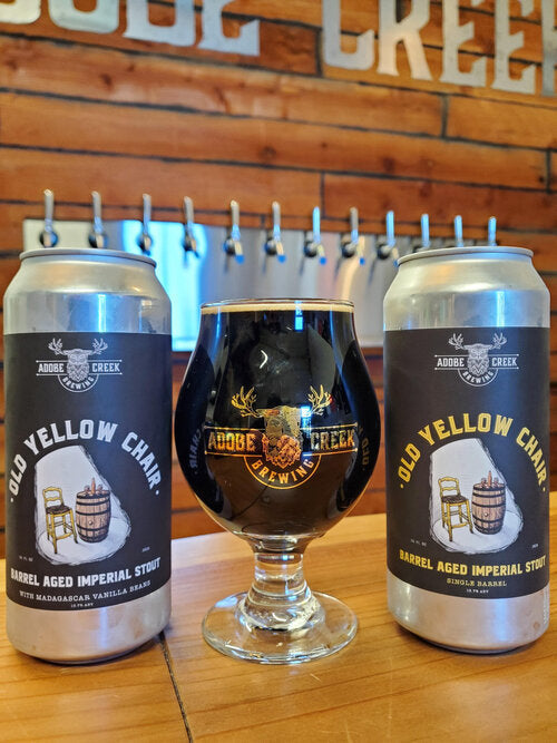 Adobe Creek Brewing Old Yellow Chair Barrel Aged Imperial Stout Single 16oz can