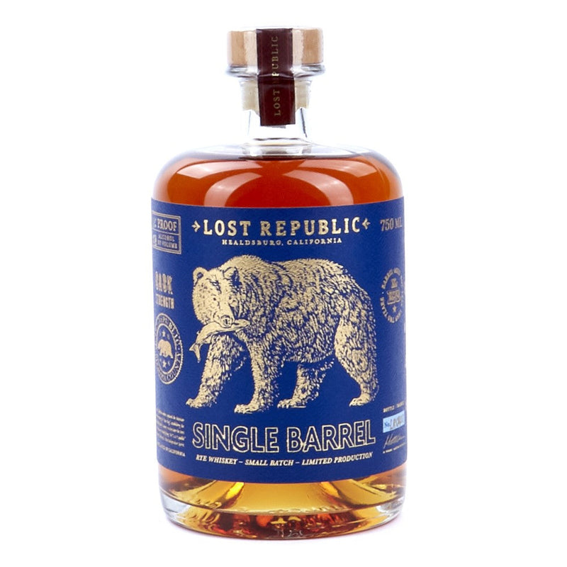 Lost Republic Cask Strength Single Barrel Rye Whiskey 750ml