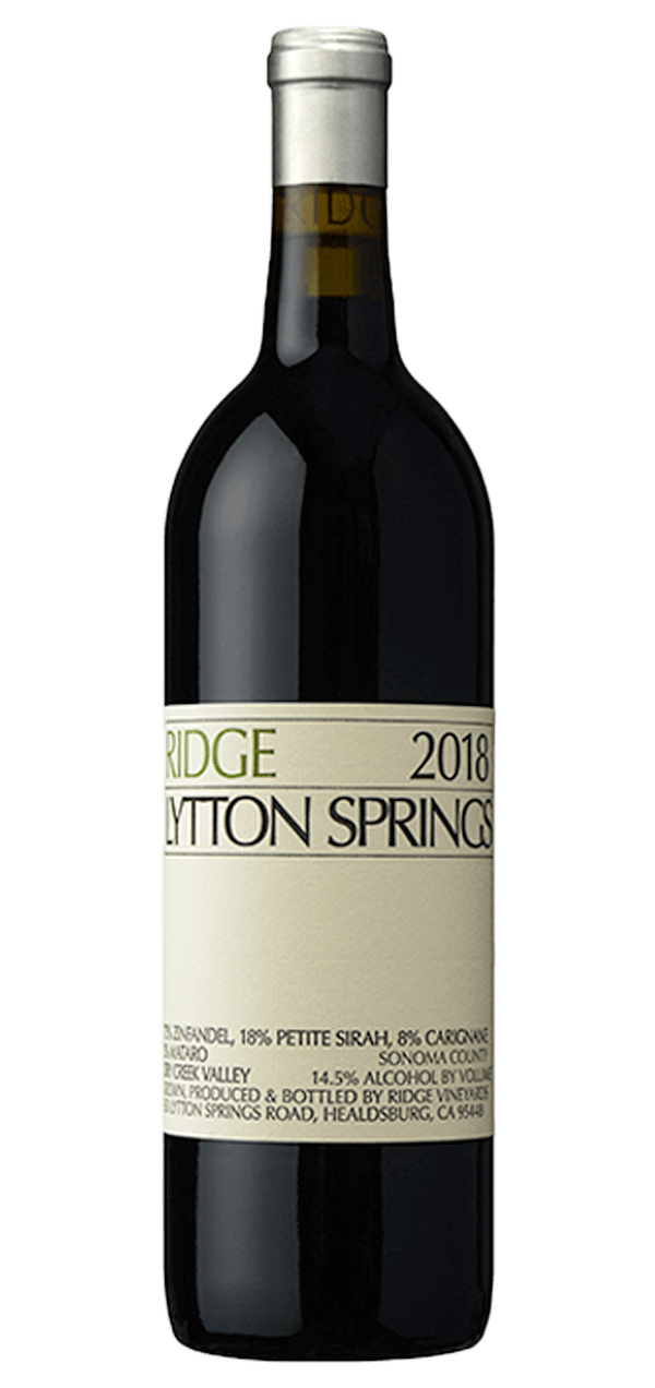 Ridge Lytton Springs 2018 750 ML