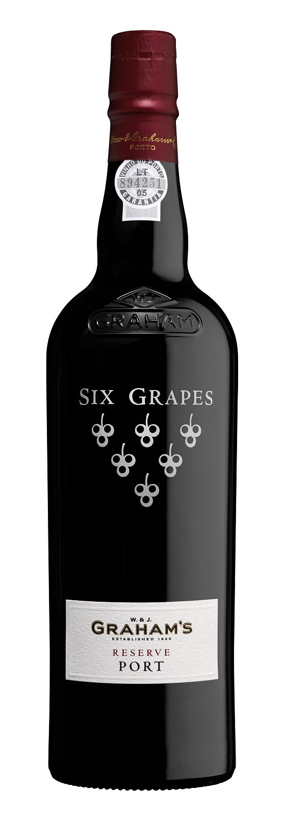 Six Grapes Graham's Porto Reserve 750ml