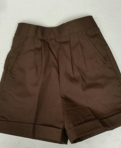 Girls Pull-On Shorts: Brown