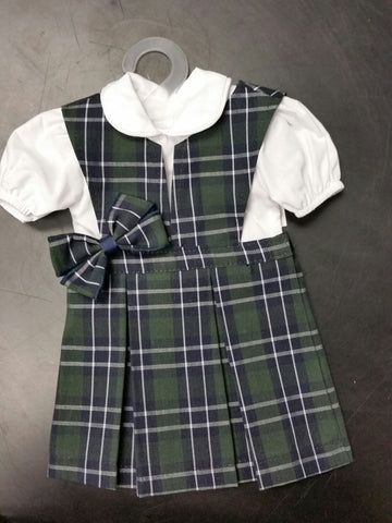 Doll Jumper Set Plaid 116
