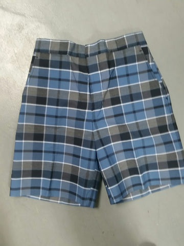 Flat Front Shorts Plaid 59