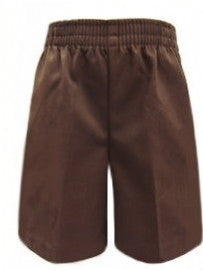 Pull-On Shorts: Brown