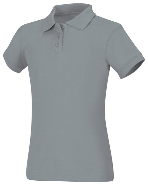 Girls Jersey Polo Grey