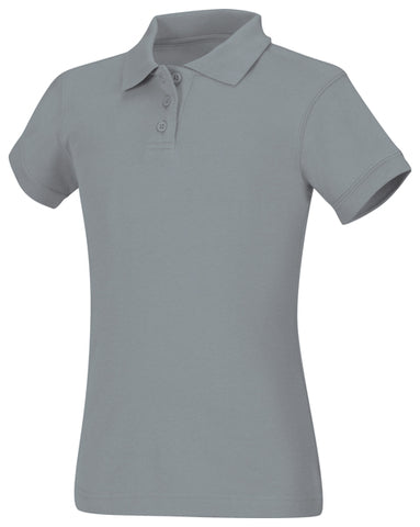 Girls Jersey Polo: Grey