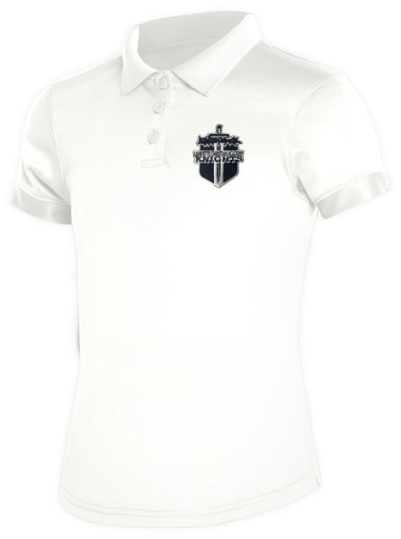 Girls DryFit Polo LCA White
