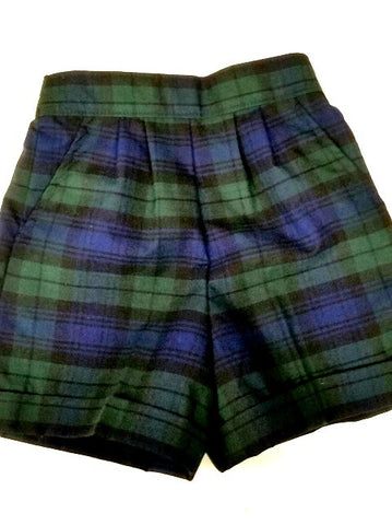 Pull-On Shorts Plaid 77