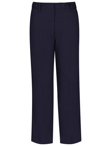 Boys Flat Front Pants: Navy
