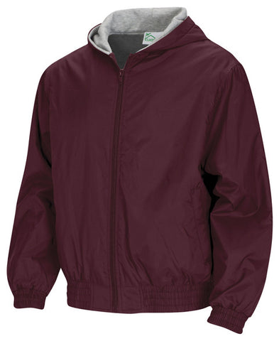 Bomber Jacket: Burgundy