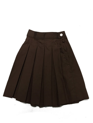 Pleated Skirt: Brown