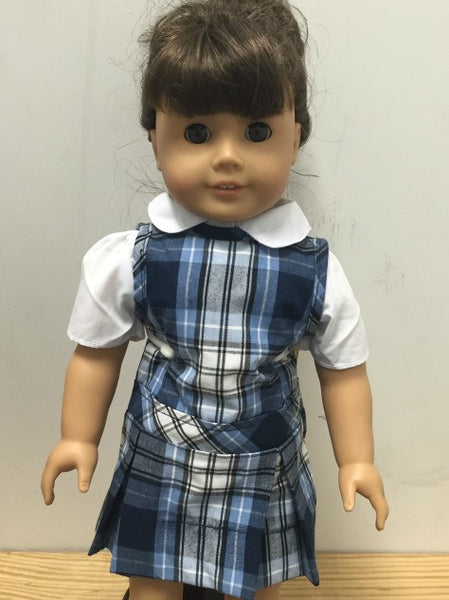 Doll Jumper Set Plaid 76