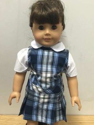Doll Jumper Set: Plaid 76