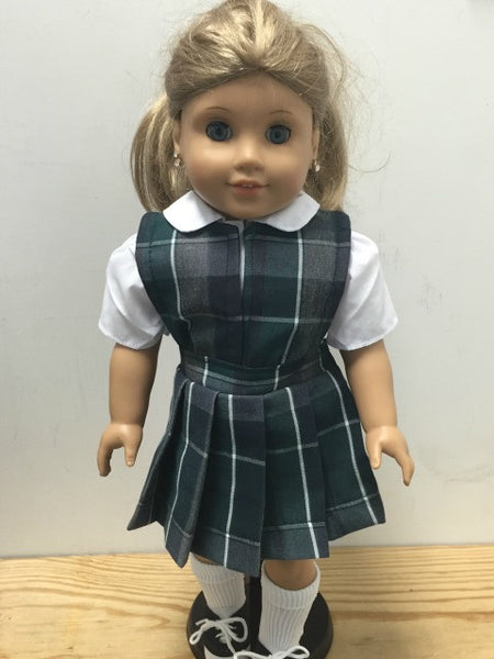 Doll Jumper Set Plaid 75