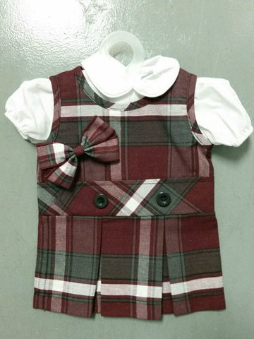Doll Jumper Set Plaid 54