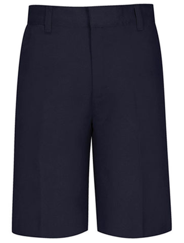 Boys Flat Front Shorts: Navy
