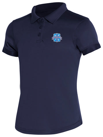 Girls DryFit Polo: Ascension Navy