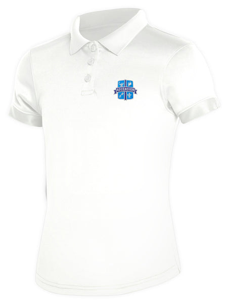 Girls DryFit Polo Ascension White