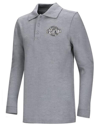 DryFit Polo LS SCS Grey