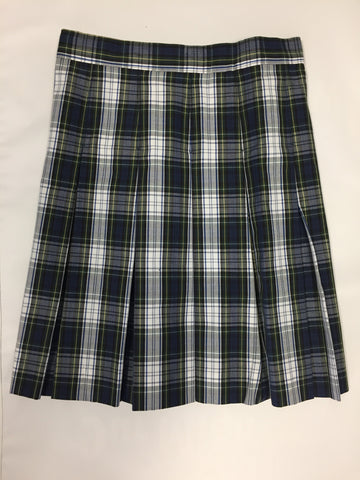 Pleated Skirt: Plaid 80