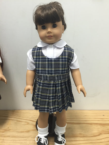 Doll Jumper Set Plaid 42